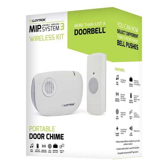 DingDong 'AA' Battery Operated Portable Door Chime kit