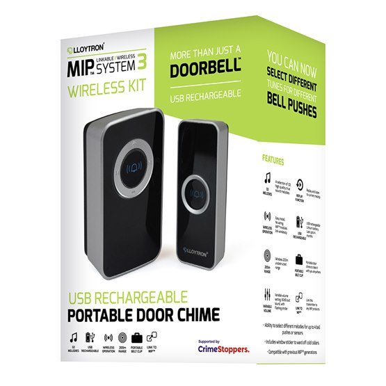 32 Melody USB Rechargeable Portable Door Chime kit