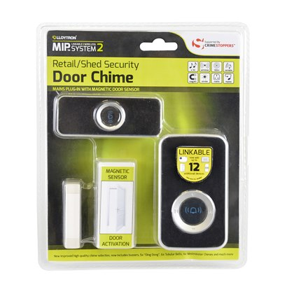 B7513 Retail/Shed Security Magnetic Sensor + Plug-in Door Chime kit